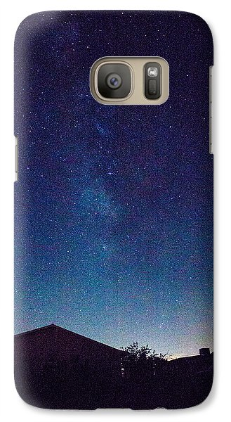 Galaxy Case featuring the photograph There's A Galaxy Over My House by Carolina Liechtenstein