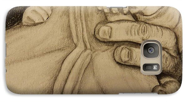 Galaxy Case featuring the drawing These Are The Hands That Love Me by Dan Wagner