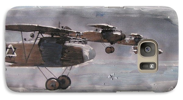 Galaxy Case featuring the painting These Open Skies by Vikram Singh