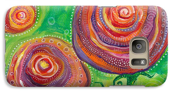 Galaxy Case featuring the painting These Roses Are Forever by Tanielle Childers