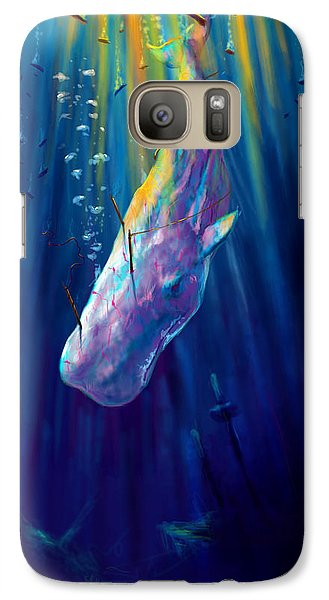 Thew White Whale Galaxy Case by Yusniel Santos