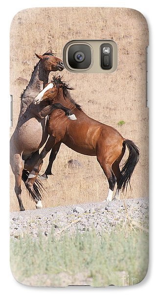 Galaxy Case featuring the photograph They Ain't Dancin' by Vinnie Oakes