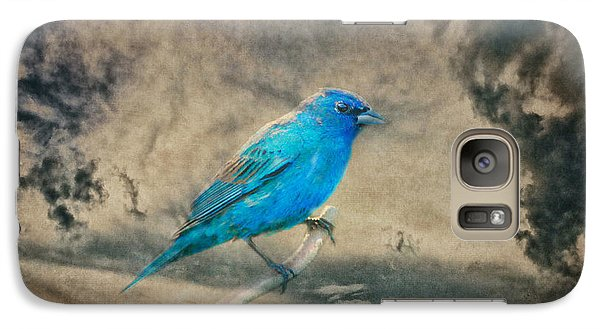 Galaxy Case featuring the photograph They Call Me Blue by Linda Segerson