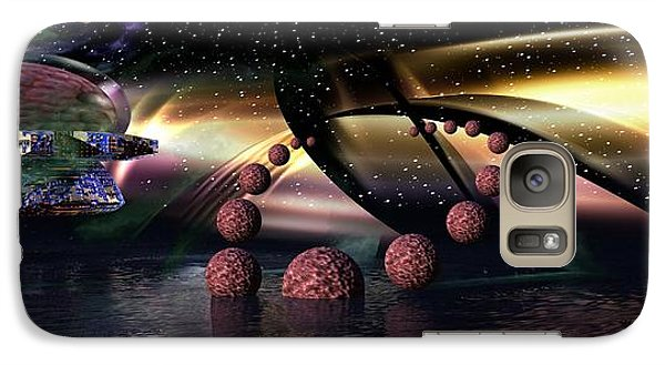 Galaxy Case featuring the digital art They Came From Outer Space by Jacqueline Lloyd