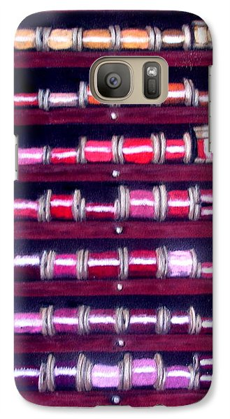 Galaxy Case featuring the drawing Thimbles In Cabinet by Joseph Hawkins
