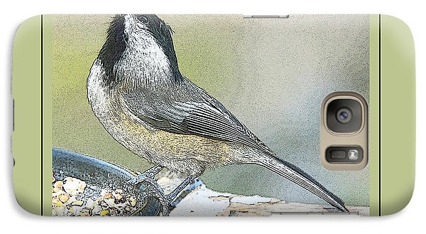Galaxy Case featuring the photograph Things Are Looking Up Chickadee Print by A Gurmankin