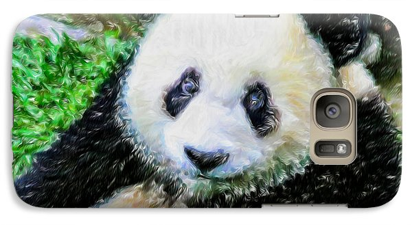 Galaxy Case featuring the painting Thinking Of David Panda by Lanjee Chee
