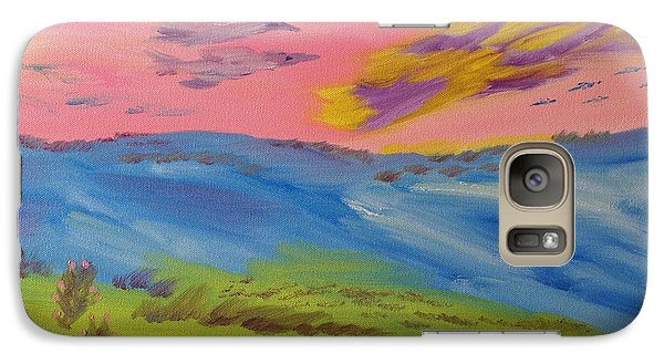 Galaxy Case featuring the painting Thinking Of Mom by Meryl Goudey