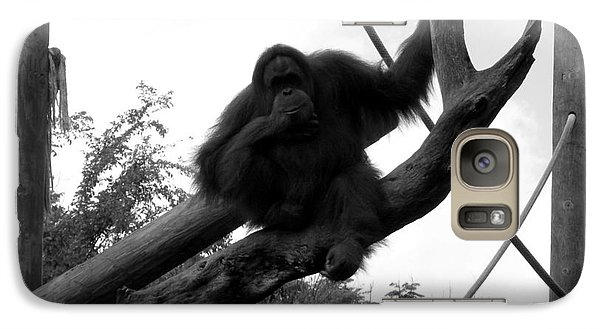 Galaxy Case featuring the photograph Thinking Of You Black And White by Joseph Baril