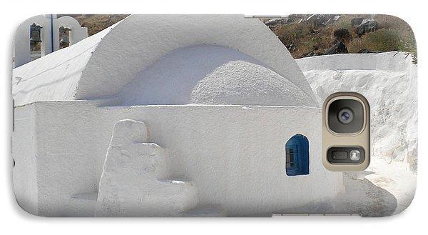 Galaxy Case featuring the photograph Thirasia Church Santorini Greece by Colette V Hera  Guggenheim