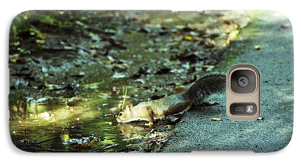Galaxy Case featuring the photograph Thirsty Squirrel by Lorna Rogers Photography