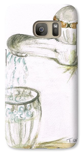 Galaxy Case featuring the painting Thirsty Of Water by Teresa White