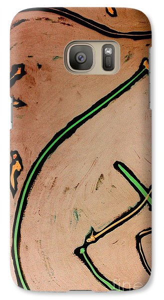 Galaxy Case featuring the painting Thirteen by Jacqueline McReynolds