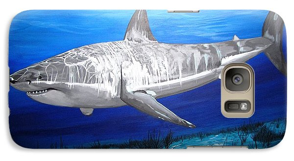 Galaxy Case featuring the painting This Is A Shark by Kevin F Heuman