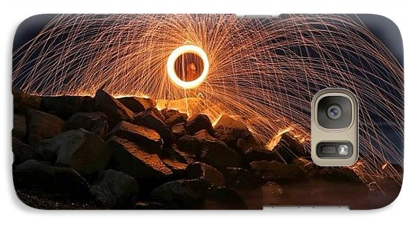 Galaxy S7 Case - This Is A Shot Of Me Spinning Burning by Larry Marshall