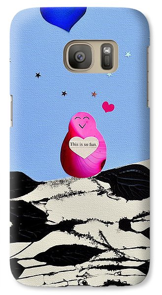 Galaxy Case featuring the painting This Is So Fun by Christine Ricker Brandt