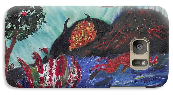 Galaxy Case featuring the painting This Is Your World by Martin Blakeley