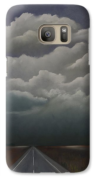 Galaxy Case featuring the pastel This Menacing Sky by Cynthia Lassiter