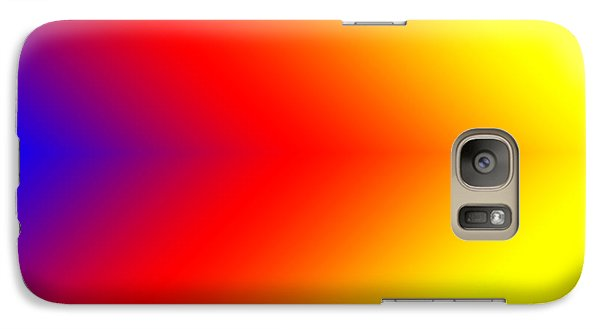 Galaxy Case featuring the digital art This Way Abstract Arrrows by Karen Nicholson