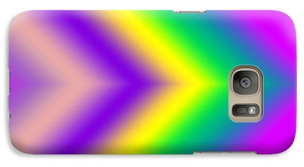 Galaxy Case featuring the digital art This Way - Pink by Karen Nicholson