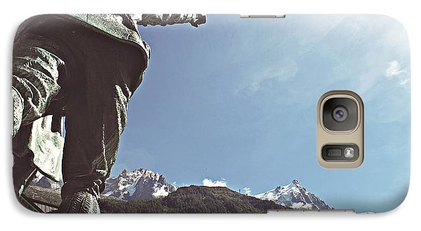Galaxy Case featuring the photograph This Way To The Aiguille Du Midi by Cendrine Marrouat