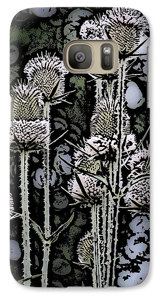 Galaxy Case featuring the digital art Thistle  by David Lane