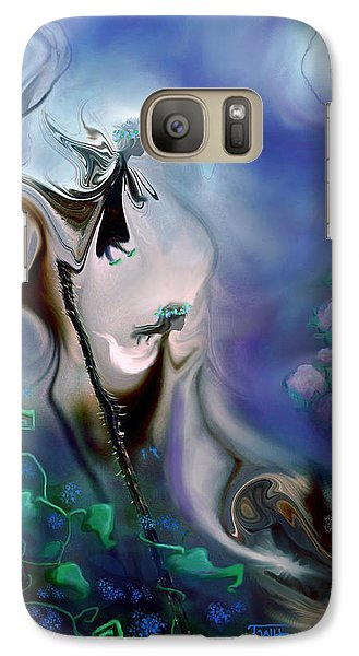 Galaxy Case featuring the photograph Thistle Fairies In Blue by Terry Webb Harshman