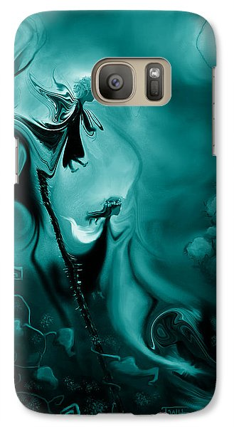 Galaxy Case featuring the photograph Thistle Fairies In Monochrome by Terry Webb Harshman