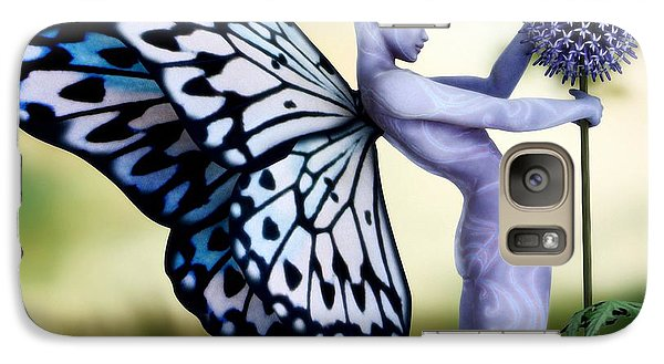 Galaxy Case featuring the digital art Thistle Fairy by Sandra Bauser Digital Art