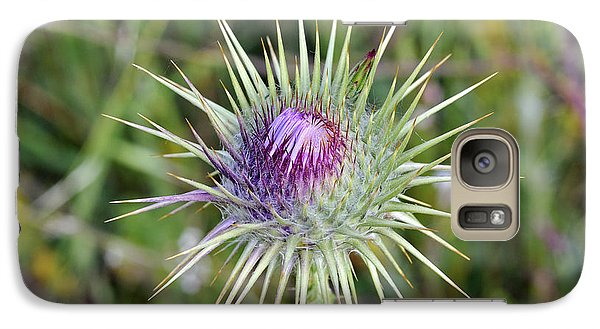 Galaxy Case featuring the photograph Thistle Flower by George Atsametakis