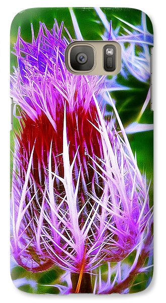 Galaxy Case featuring the photograph Thistle by Judi Bagwell