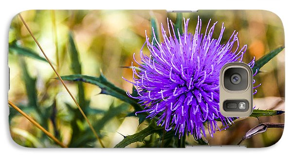Galaxy Case featuring the photograph Thistle by Phil Abrams