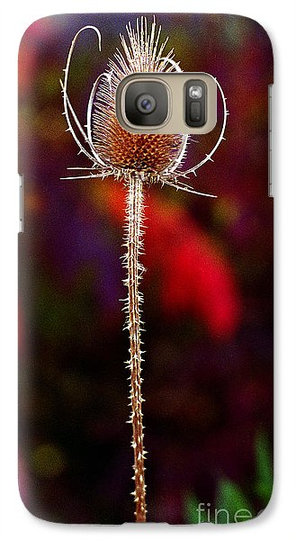 Galaxy Case featuring the photograph Thistle by Tom Brickhouse
