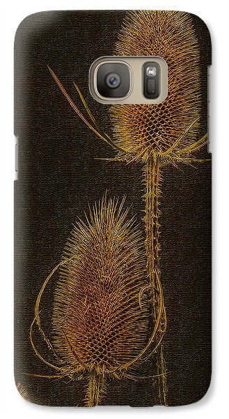 Galaxy Case featuring the photograph Thistles by Hanny Heim