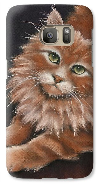 Galaxy Case featuring the drawing Thomas by Cynthia House