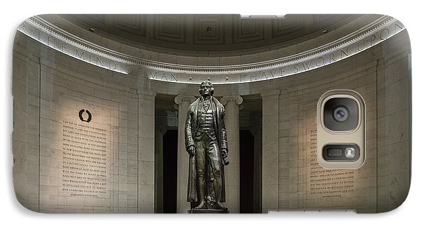 Galaxy Case featuring the photograph Thomas Jefferson Memorial At Night by Sebastian Musial