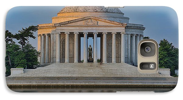 Galaxy Case featuring the photograph Thomas Jefferson Memorial At Sunrise by Sebastian Musial