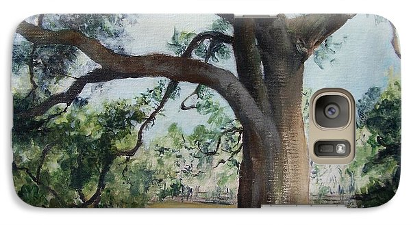 Galaxy Case featuring the painting Thomasville Oak by Mary Lynne Powers