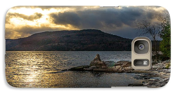 Galaxy Case featuring the photograph Thompson Point Sunset by Jeremy Farnsworth