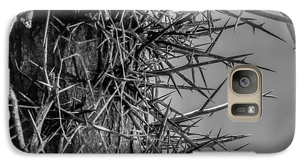 Galaxy Case featuring the photograph Thorny Locust Tree by Brian Stevens