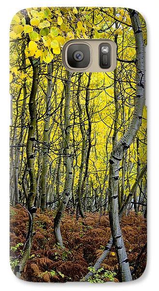 Galaxy Case featuring the photograph Through The Aspen Forest by Ellen Heaverlo
