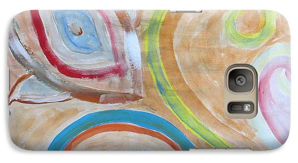 Galaxy Case featuring the painting Thought by Sonali Gangane