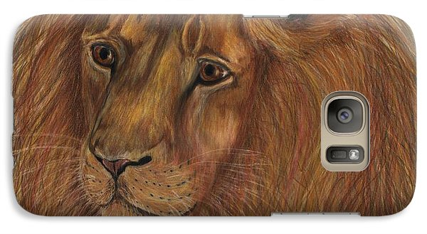 Galaxy Case featuring the drawing Thoughtful Lion 2 by Stephanie Grant