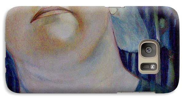 Galaxy Case featuring the painting Thoughts by Irena Mohr