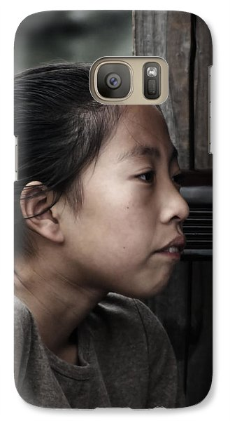 Galaxy Case featuring the photograph Thoughts by Lucinda Walter