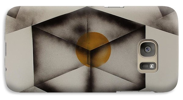 Galaxy Case featuring the painting Thoughts Outside The Box. by Kenneth Clarke