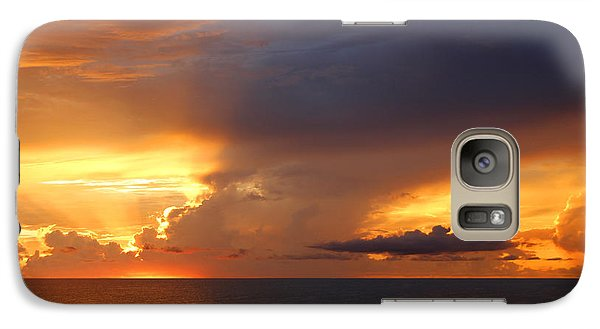 Galaxy Case featuring the photograph Threatening Sunset by Mariarosa Rockefeller
