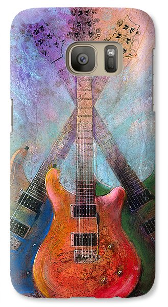 Galaxy Case featuring the painting Three Amigos by Andrew King
