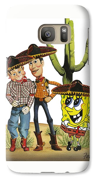 Galaxy Case featuring the painting Three Amigos by Ferrel Cordle