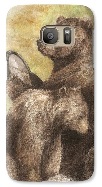 Galaxy Case featuring the painting Three Bears by Meagan  Visser